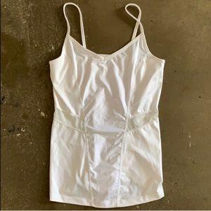 White mesh camisole